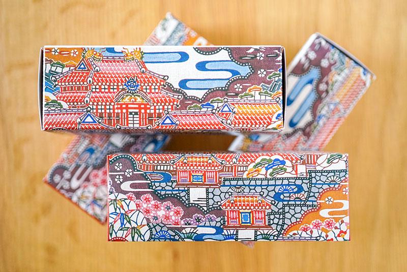 首里城最中のパッケージデザイン
